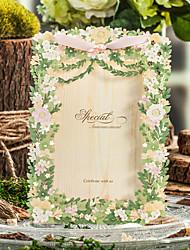 Имя, надпись на заказ Боковой сгиб Свадебные приглашенияКонверт Конверт наклейки Программа Вентилятор Свадьба меню Пригласительные билеты