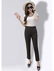 Sign summer straight loose wide leg pants suit pants were thin pantyhose female feet casual pants harem pants