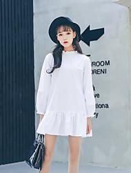 Signer la robe de couleur unie en série coréenne originale