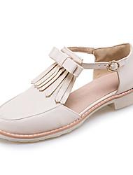 Women's Sandals Summer Fall Club Shoes PU Office & Career Party & Evening Dress Low Heel Tassel