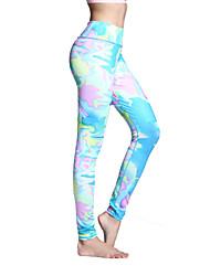 Mujer Pantalones de Running Secado rápido Transpirable Medias/Mallas Largas Leggings Prendas de abajo para Yoga Pilates Ejercicio y