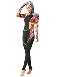 HISEA® Dámské Mokré obleky Proti záření neoprén Diving Suit Dlouhé rukávy Potápěčské obleky-Plavání Potápění Surfing PlachetniceJaro Léto