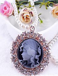 Doux Collier Rétro Noir Accessoires Lolita  Collier Couleur Pleine Pour Polyester Métal