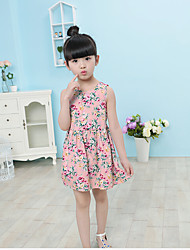 Girl's Casual/Daily Floral Dress Summer Sleeveless