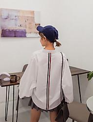 assinar cor seção bar v-pescoço camisa de mangas compridas aluna seção selvagem camisa de hedging