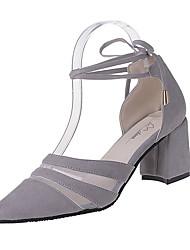 Women's Loafers & Slip-Ons Spring Comfort Fleece Outdoor Chunky Heel Ribbon Tie