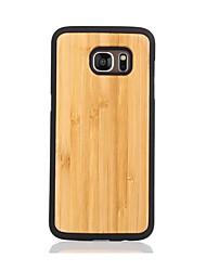 Pour Motif Coque Coque Arrière Coque Couleur Pleine Dur Bois pour Samsung S7 edge S7