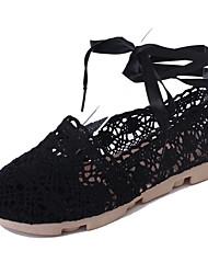 Women's Loafers & Slip-Ons Spring Summer Moccasin Comfort Light Soles Linen Outdoor Dress Casual Flat Heel Ribbon Tie Walking