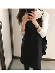 Han Guoguan network new spring wild Western style flounced harness dress