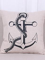 1 pcs Linen Pillow Cover Pillow Case,Graphic Prints Textured Nautical Still LifeCasual Outdoor Euro Tropical Modern/Contemporary