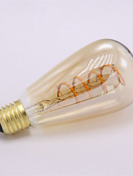 1pcs dimmable st64 3w 300-350lm led souple filament flexible ampoule vintage 2300k filament led 220-240v