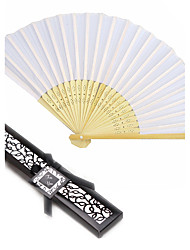 Beter Gifts® Silk Hand Fan in Black Box