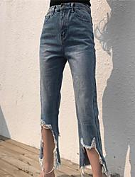 nouveau tir réel pour faire le vieux trépanation était mince usure des jeans blanc marée neuf points nett