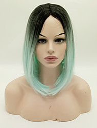sintetico parrucche 1b / colore brevi parrucche bob economici verdi resistente al calore per donne afro