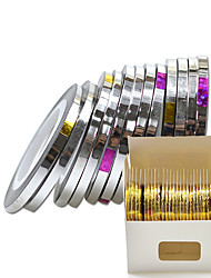 30 Rolls/Pack Nail Striping Tape 3mm Laser Sticker Line Makeup Salon Beauty Decoration Pedicure Set
