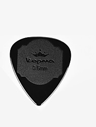 Professional Pick High Class Guitar Acoustic Guitar Electric Guitar New Instrument Nylon Musical Instrument Accessories Black 0.6MM
