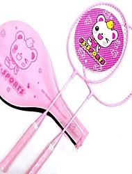 Raquettes de Badminton Stabilité Alliage de fer Une Paire × 2 pour Extérieur Utilisation Sport de détente