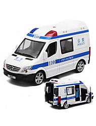 Полицейская машинка Машинки с инерционным механизмом 1:32 Пластик Кот Коричневый