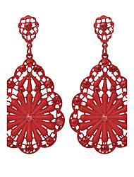 Drop Earrings Euramerican Fashion Alloy Flower Teardrop Jewelry For Party Daily 1 pair