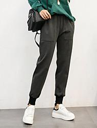 dreidimensionale asymmetrische Naht Hose beiläufige Hosen Pluderhosen wei Hosen herunter