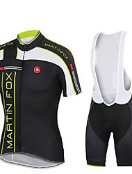 Camisa com Calça Bretelle Homens Unissexo Manga Curta Moto Respirável Térmico/Quente Secagem Rápida Resistente Raios UltravioletaCamisa +