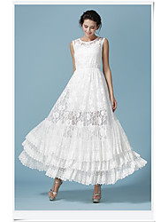 Xian Xia Jingjing models with ultra-white lace three fairy lace dress big swing dress
