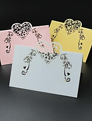40pcs Love Lace Heart Laser Cut Party Table Name Place Cards Wedding Cards Table Decoration Mariage Favors And Gifts Party Supplies