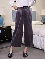 Signer la version coréenne de la taille élastique de l'automne et de l'hiver en vrac en vrac en velours en or plissé pantalon de jambe