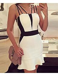 modèles d'explosion AliExpress en Europe et en Amérique sexy dos nu sexy bretelles paquet robe robe de la hanche