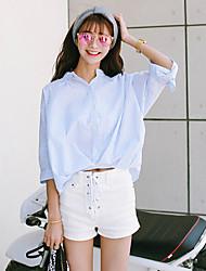 Sinal 2016 moda irregular tecido ondulado pequeno camisa camisa fresco selvagem
