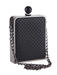 L.west Women Elegant High-grade Luxury Plaid Evening Bag
