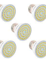 5Pcs YWXLight® E26/E27 GU5.3(MR16) GU10 54LED 5W LED 2835SMD 400-500Lm Warm White Cold White Natural White LED Spotlight (AC 110V/AC 220V)