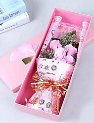 1 Branch Plastic Roses Tabletop Flower Artificial Flowers Soap Flower