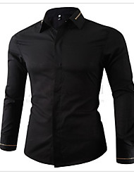 Men's Fashion Casual Zipper Decoration Long-Sleeved Shirt