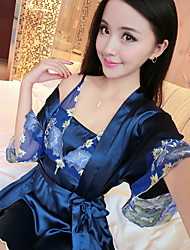 Women's Gartered Lingerie Nightwear,Sexy Solid-Thin Rayon