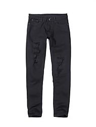 Herren Vintage Mittlere Hüfthöhe Micro-elastisch Jeans Skinny Hose einfarbig