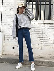 знак волны ~ марочная небольшой флэш-синий мешковатые джинсы колготки женщина