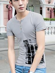 unterzeichnen Sommer Männer&# 39; s neue Halb sleeved Männer&# 39; s Art und Weise Baumwolle Kurzarm-T-Shirt Hemd grundiert