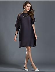 Les grandes longues longues sections de robe lâche ont été minces, à la mode, à l'aide de l'engrais xia spring xia pour augmenter les