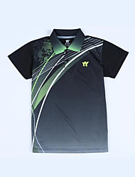 Unisex Half Sleeve Tennis Clothing Sets/Suits Shorts Breathable Comfortable Yellow Red Black Blue Black Badminton