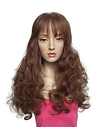 Medium Auburn Color Wig Capless Synthetic Fiber Heat Wig Women Custome Wig