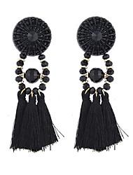 Boucles d'oreille goutte Bijoux Original Pendant British Le style mignon Fait à la main Simple Style Alliage Forme de Cercle Noir Bijoux