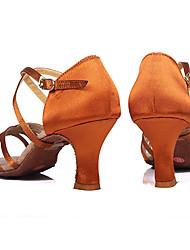 Женская обувь - Атлас - Доступны на заказ ( Коричневый/Другое ) - Латино/Сальса