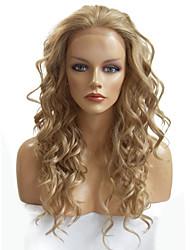 жен. Парики из искусственных волос Лента спереди Длиный Глубокие волны Отбеливатель Blonde Природные волосы Парик из натуральных волос