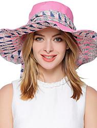 Mujer Primavera Verano Otoño Bonito Fiesta Trabajo Casual Poliéster Sombrero para el sol,A Rayas
