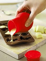 Measuring Cups & Colher Para Bolo para Ice Para Chocolate para Cupcake para Candy em botão Silicone Bricolage Alta qualidade Ecológico