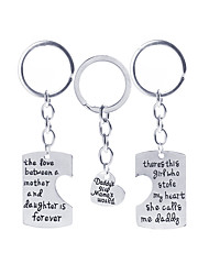 3Pcs Father'S And  Mother'S  Day Gift  Souvenirs Or Birthday Present Keychain For Best Dad And Mom  Family