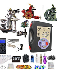 Complete Tattoo Kit 3  Machines TDragon Dual Digital LED Power Supply  Liner & Shader