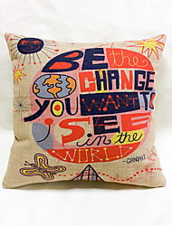 1 pcs Linen Pillow Case Body Pillow Travel Pillow Sofa Cushion Novelty Pillow,Novelty Graphic Prints Quotes & SayingsTropical