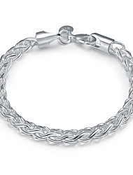 Elegant Silver Plated 6mm Wide Snake Chain & Link Bracelets for Wedding Party Women Christmas Gifts
